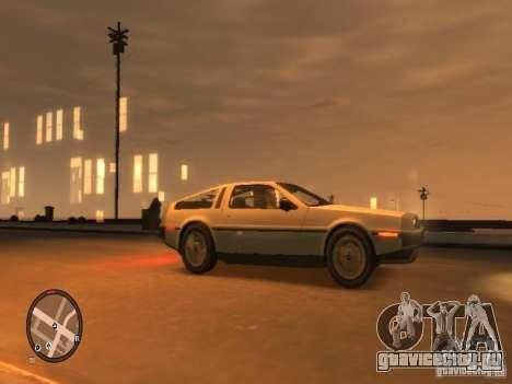 De Lorean DMC 12 для GTA 4 вид сзади слева