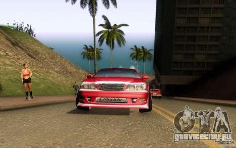 Toyota Chaser JZX100 для GTA San Andreas вид изнутри