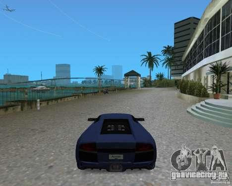Lamborghini Murcielago LP640 для GTA Vice City вид сзади слева