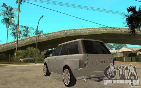 Land Rover Range Rover Supercharged 2009 для GTA San Andreas вид сзади слева