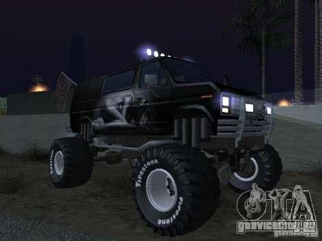 Ford Grave Digger для GTA San Andreas вид сверху