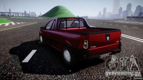 Dacia Logan Pick-up ELIA tuned для GTA 4 вид сзади слева