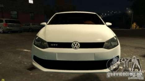 Volkswagen Polo v1.0 для GTA 4 вид изнутри