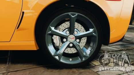 Chevrolet Corvette C6 Grand Sport 2010 для GTA 4 вид сверху