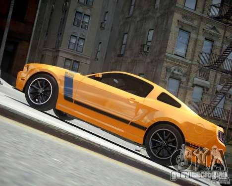 Ford Mustang Boss для GTA 4 вид сзади
