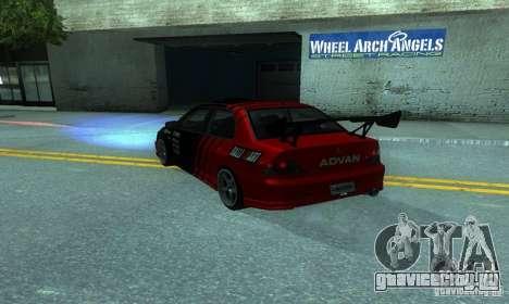 Mitsubishi Lancer Evo 8 Tunable для GTA San Andreas вид сзади слева