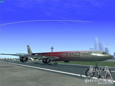 Airbus A340-600 Etihad Airways F1 Livrey для GTA San Andreas вид слева