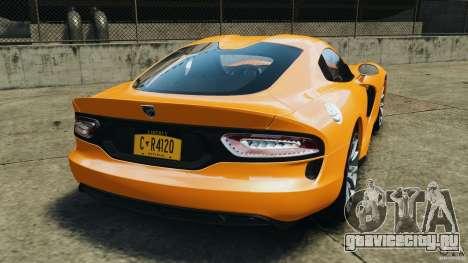 SRT Viper GTS 2013 для GTA 4 вид сзади слева