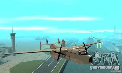 C-2 Greyhound для GTA San Andreas вид сзади