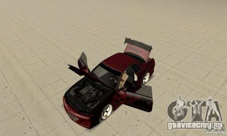 Nissan Skyline R32 Drift Edition для GTA San Andreas вид сзади
