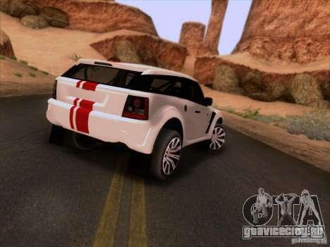Bowler EXR S 2012 для GTA San Andreas вид справа