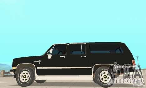 Chevrolet Suburban FBI 1986 для GTA San Andreas вид сзади слева