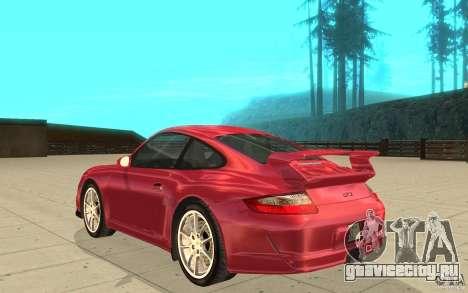 Porsche 911 (997) GT3 v2.0 для GTA San Andreas вид сзади слева