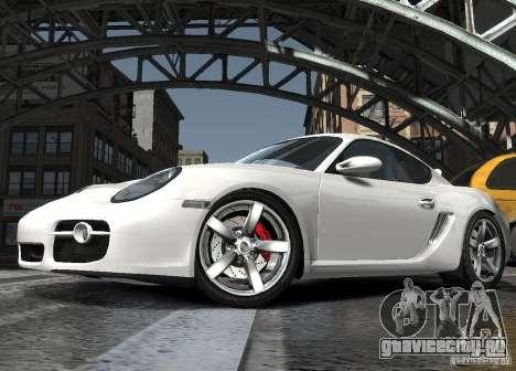 Porsche Cayman S1 для GTA 4 вид изнутри