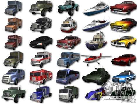 GTA3 HD Vehicles Tri-Pack III v.1.1 для GTA San Andreas вид сзади слева