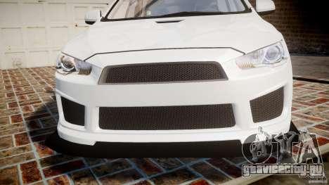 Mitsubishi Lancer Evolution X для GTA 4 вид сверху