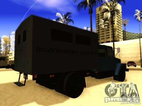 ГАЗ 3309 Двухрядный для GTA San Andreas вид сзади