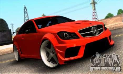 Mercedes Benz C63 AMG для GTA San Andreas салон