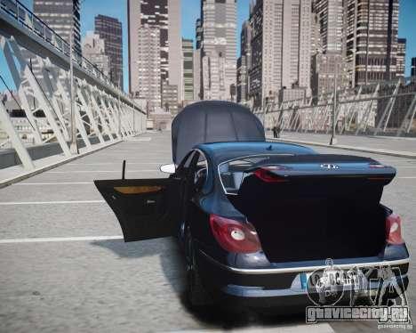 Volkswagen Passat CC для GTA 4 вид снизу