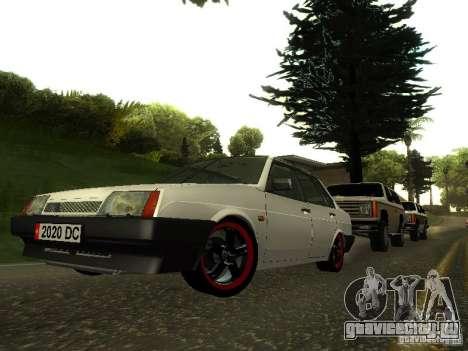 ВАЗ 21099 v.2 для GTA San Andreas вид сзади
