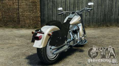 Harley Davidson Softail Fat Boy 2013 v1.0 для GTA 4 вид сзади слева