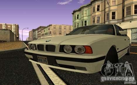 BMW 525 (E34) V.2 для GTA San Andreas вид сзади слева
