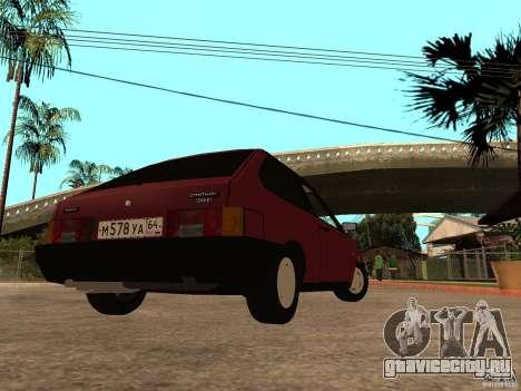 ВАЗ 2108 Сток для GTA San Andreas вид сзади слева