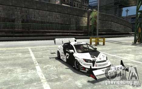 Scion tC AWD V1.0 для GTA 4 вид сзади