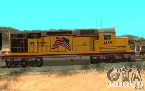 SD 40 Union Pacific Building America для GTA San Andreas вид сзади слева