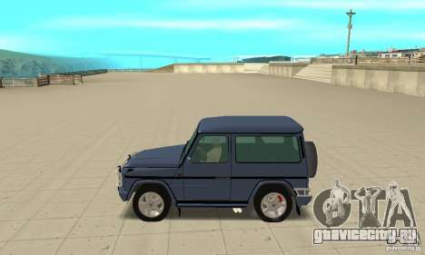 Mercedes-Benz G500 1999 Short [with kangoo v2] для GTA San Andreas вид слева