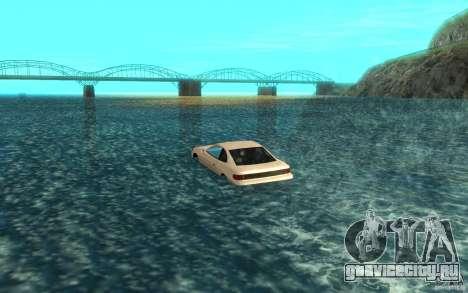 Alpha boat для GTA San Andreas вид сзади слева