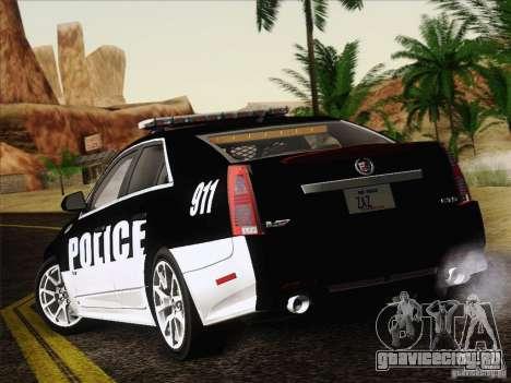 Cadillac CTS-V Police Car для GTA San Andreas вид справа