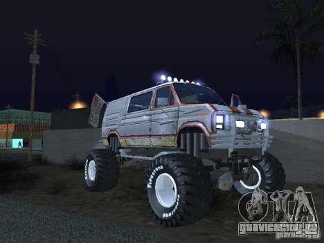 Ford Grave Digger для GTA San Andreas вид сзади