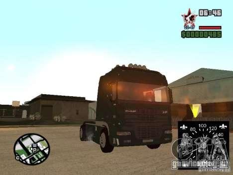 DAF XF для GTA San Andreas вид сзади слева