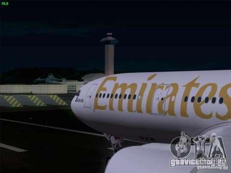 Airbus A330-200 Emirates для GTA San Andreas вид изнутри