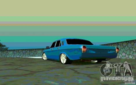 ГАЗ 24 v1.0 для GTA San Andreas вид сзади слева