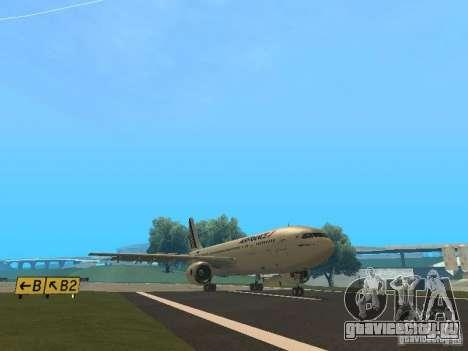 Airbus A300-600 Air France для GTA San Andreas вид сзади слева