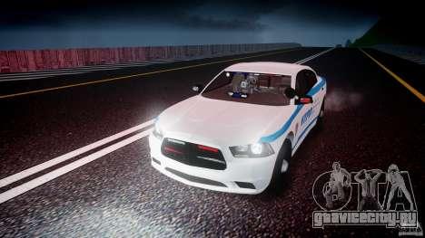 Dodge Charger NYPD 2012 [ELS] для GTA 4 вид сверху