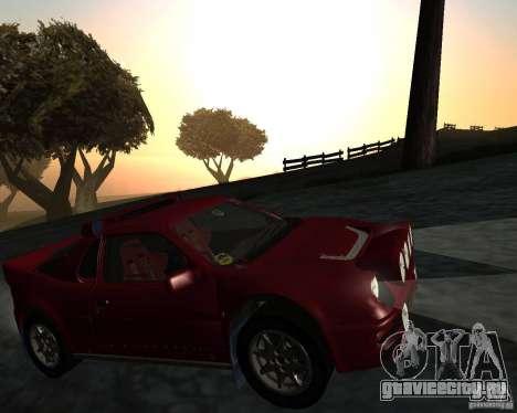 Ford RS 200 для GTA San Andreas вид изнутри