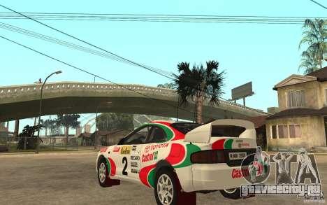 Toyota Celica GT4 DiRT для GTA San Andreas вид сзади слева