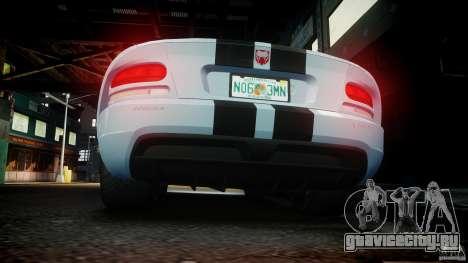 Dodge Viper SRT-10 для GTA 4 салон