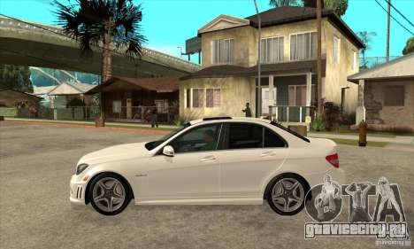 Mercedes-Benz C63 AMG 2010 для GTA San Andreas вид сверху