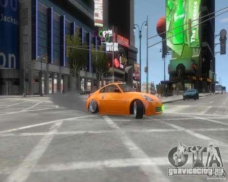Nissan 350Z для GTA 4 вид сзади