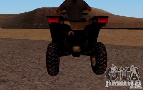 Quadbike from BF 3 для GTA San Andreas вид справа