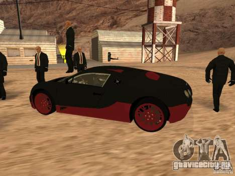 Bugatti Veyron Super Sport для GTA San Andreas вид сзади слева