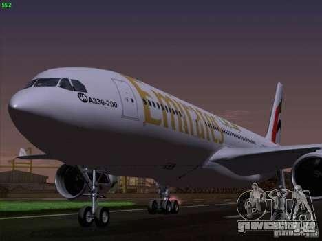 Airbus A330-200 Emirates для GTA San Andreas вид сзади