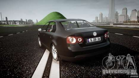 Volkswagen Jetta 2008 для GTA 4 вид сзади слева
