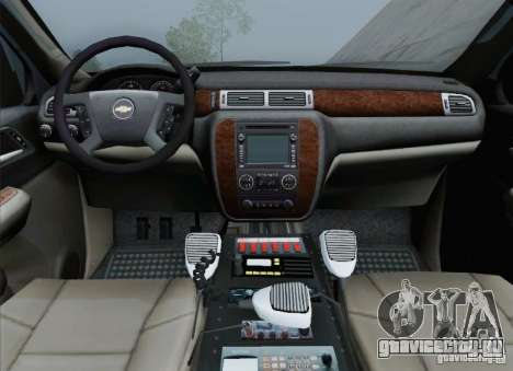 Chevrolet Suburban EMS Supervisor 862 для GTA San Andreas салон