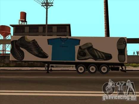 Прицеп Adidas для GTA San Andreas вид слева