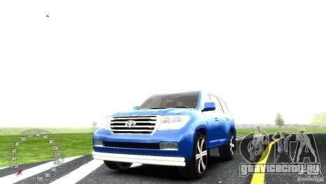 Toyota Land Cruiser 200 RESTALE для GTA 4 вид изнутри